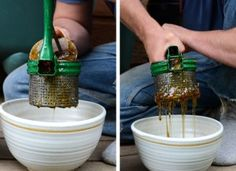The Homestead Survival | Honey Extraction: New and Improved Hillbilly Method |  Beekeeping - http://thehomesteadsurvival.com