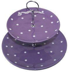 Purple Polka Dot - 2 Tier Cake Stand - PURPLEologist.com