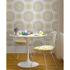 WallPops! Suzani Peel and Stick 18' x 20.5 Geometric Roll Wallpaper
