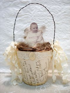 ~ The Feathered Nest ~: Peat pot baby ~