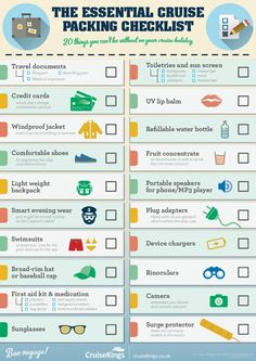 The Essential Cruise Packing Checklist #infographic #Packing #Cruse #Travel