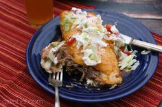 Shredded Beef Wet Burritos | girlichef.com