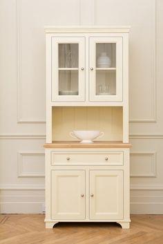kitchen dresser painted in Hardwicke White by Farrow & Ball Kitchen Dresser, Diy Kitchen Cabinets, Wooden Kitchen, Kitchen Decor, Recycled Furniture, Wood Furniture, Wooden Almirah, Crockery Cabinet, Small Dresser