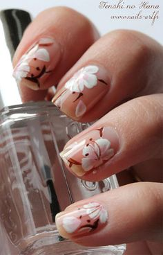 15 Cherry Blooms Spring Nail Art Designs, Ideas, Trends & Stickers 2015   Fabulous Nail Art Designs