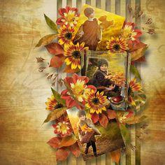 The template pack CherishTheMoment kit Magic of Autumn Designs by Brigit Scrapbook Designs, Autumn, Fall, Wreaths, Templates, Painting, Magic, Kit, Home Decor