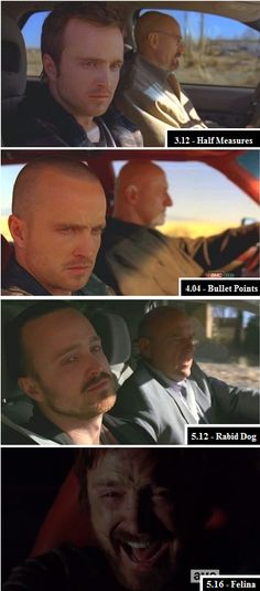 """Throughout the show, Jesse is almost always dragged along somewhere against his will. In """"Felina,"""" though, you see him finally inAnd Moments Of Really Cool Symmetry From The """"Breaking Bad"""" Finale Heisenberg, Breaking Bad Series, Breaking Bad Quotes, Breaking Bad Jesse, Disney Channel, Mejores Series Tv, New Hampshire, Jesse Pinkman, Cartoon Network"""