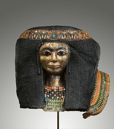 Funerary Mask of a Woman. New Kingdom, 18th Dynasty, reign of Amenhotep II - Thutmose IV, ca. 1427-1390 B.C.