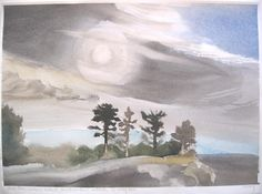 Four Trees, Lookout Island, Point au Baril Canadian Painters, Canadian Artists, Fraser River, He's Beautiful, Beautiful Landscapes, Landscape Paintings, Trees, Watercolor, Drawing Board