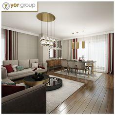 Gelecek bayramlarda siz evinizde daha rahat edin diye… İşte karşınızda bir Yöryapı projesi olan Altındere Apartmanı salonundan bir kare!