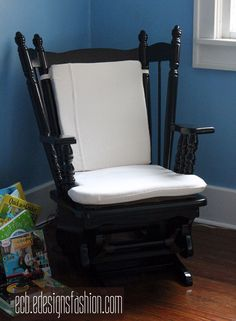 So Tuesday I showed you this chair that I scored on Craigslist and mentioned that I was going to be creating cushions for it. Someone had attempted a bit of padding..that tan square is…
