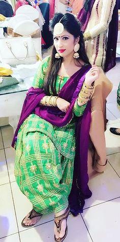 Beautiful Punjabi suit with unique colour combination heavy Patiala salwar Punjabi suit Indian Suits, Indian Dresses, Indian Wear, Pakistani Dresses, Designer Punjabi Suits, Indian Designer Outfits, Punjabi Fashion, Indian Fashion, Women's Fashion