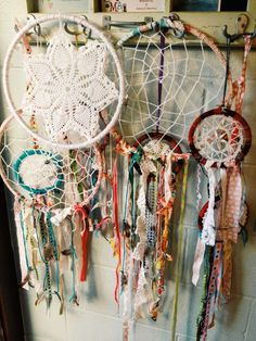 Love this idea from One Shabby Chick.  A way to use some of my mom's doilies!