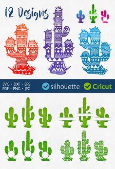 CACTUS SVG cut files Cactus Monogram Frame svg Initial Border