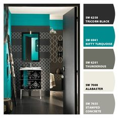 Oh this color scheme is awesome! Paint colors from Chip It! by Sherwin-Williams