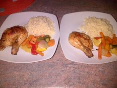 roast chicken with veggies and cous cous.