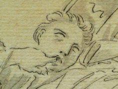 """DOMINIQUIN (d'Après) - St Nil guérit un Jeune Possédé avec l'Huile de la Lampe, Le Père et son Fils (drawing, dessin, disegno-Louvre INV9147) - Detail 12  -  TAGS /  details détail détails detalles """"dessins 17e"""" """"17th-century drawings"""" """"Italian paintings"""" """"peinture italienne"""" croquis étude Study studies sketch sketches Museum Paris France """"Domenico Zampieri"""" """"Le Dominiquin"""" """"saint Nil"""" kid kids child children  Bible man men hommes portrait portraits face """"little boy"""" garçon père father son…"""