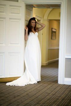 Chiffon Spaghetti Straps Sweetheart Neckline Length Maternity Wedding Dresses