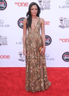 Naomi Harris in Valentino - NAACP Image Awards