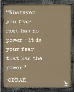 Oprah Quote Vintage Framed Art Print