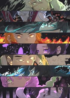 Read Kimetsu No Yaiba / Demon slayer full Manga chapters in English online! Cool Anime Wallpapers, Cute Anime Wallpaper, Naruto Wallpaper, Animes Wallpapers, Anime Chibi, Kawaii Anime, Manga Anime, Anime Art, Anime Eyes
