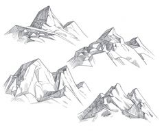Hand Drawing Mountain Peaks Isolated Retro Etching Sketch Discover thousands of Premium vectors available in AI and EPS formats Landscape Drawing Tutorial, Landscape Pencil Drawings, Landscape Sketch, Pencil Art Drawings, Art Drawings Sketches, Landscape Art, Sketch Drawing, Simple Landscape Drawing, Hand Drawings