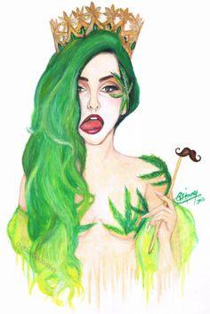 Stache. Cannabis. High Princess.
