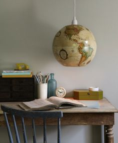 Make Your Own Upcycled Globe Lamp  http://www.rodalewellness.com/living-well/make-your-own-upcycled-globe-lamp