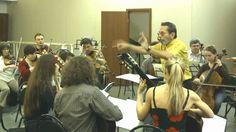 Leo Brouwer, 'Musica Viva' orchestra and 4-tissimo Guitar Quartet: rehea...