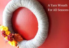 Yarn Wreath for all seasons