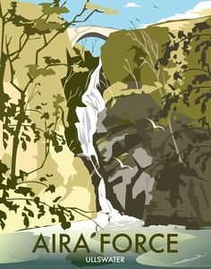 size: Giclee Print: Aira Force, Lake District - Dave Thompson Contemporary Travel Print by Dave Thompson : Artists This exceptional art print was made using a sophisticated giclée printing process, which deliver pure, rich color and remarkable detail. Portsmouth, Old Poster, Railway Posters, Cool Posters, Posters Uk, Wall Art For Sale, Vintage Travel Posters, Lake District, State Art