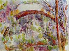 River at the bridge of the three sources, 1906 Paul Cezanne - Technique - watercolor