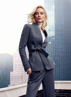 #massimodutti con chaquetas de lana tipo #blazer que se atan con un cinturón propio de un #trench. O/I 2013/14