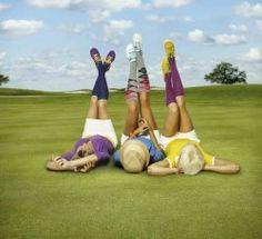 Funky golfing socks!