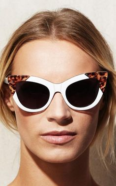 Puss & Boots In White And Leopard by Pared Eyewear for Preorder on Moda Operandi