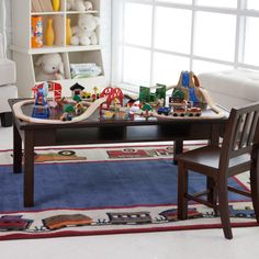 Classic Playtime Espresso Deluxe Train Table - Kids Activity Tables at Activity Table Shop $219.99