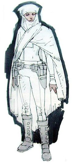Star Wars Padme Amidala Battle Arena Outfit - Original Concept Art