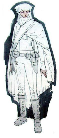 Star Wars Padme Amidala Battle Arena Outfit - Original Concept Art