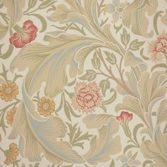 William Morris & Co Leicester Wallpaper - Marble/Rose - 212544