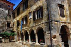 An old palace in Grožnjan, Croatia