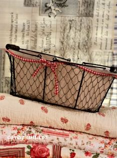 Love the gingham ribbon on the plain basket