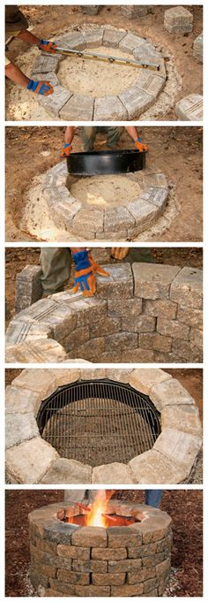 DIY Firepit or... small lily pond with liner?