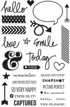 Simple Stories DIY Clear Stamp Set