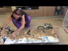 fluid painting Desert And Sea Scape - YouTube