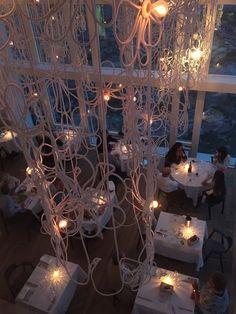 The dining room at the Fogo Island Inn.