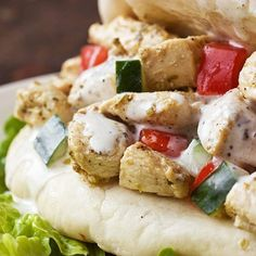 Lunch Recipe:  Yogurt-Marinated Chicken & Creamy Greek Sauce  — Recipes from The Kitchn