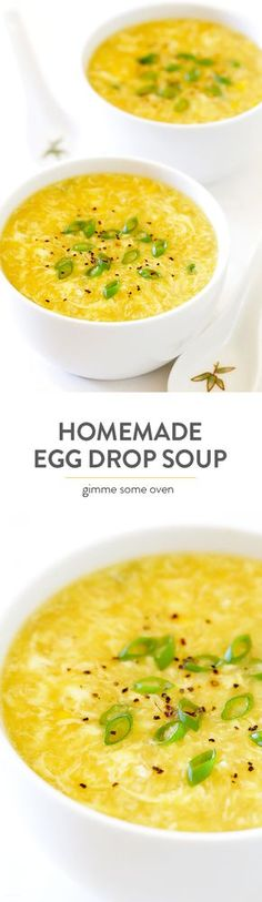 This delicious Egg Drop Soup recipe is so easy to make homemade, and tastes even better than the restaurant version!   gimmesomeoven.com