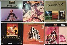 6 Movie's Box Lot LASERDISC Bundle BEN-HUR Gone With the Wind MY FAIR LADY +++ #eBayDanna