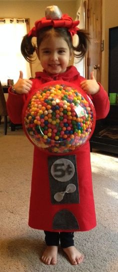 Gumball machine Halloween costume! Adorable! Made with real gumballs and felt. DIY!