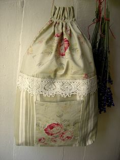 Small vintage laundry bag