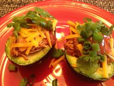 Taco chicken stuffed avocado! Yummy!